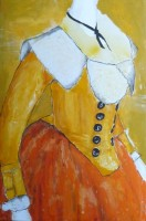 25- madame d orange acrylic on canvas 24 x 36 inches